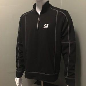 Sweet Bridgestone golf mens M quarter zip pullover